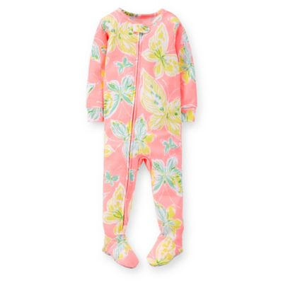 Carter's® Size 12M Butterfly Print PJ in Pink