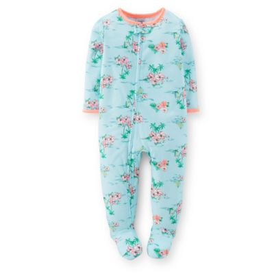 Carter's® Size 12M Tropical Hibiscus Print PJ in Light Blue