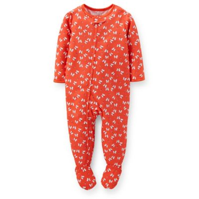 Carter's® Size 4T Allover Butterfly Print PJ in Orange
