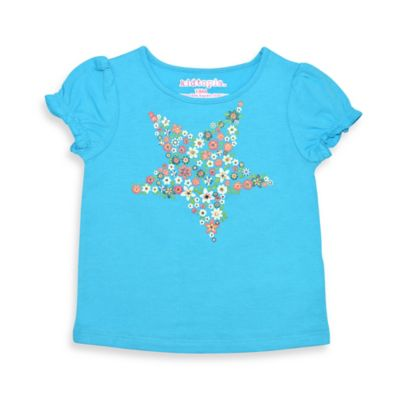 Kidtopia Size 12M Floral Star T-Shirt in Turquoise