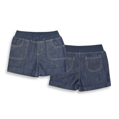 Kidtopia Size 18M Woven Elastic Waist Short in Dark Denim