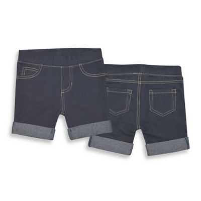 Kidtopia Size 18M Bermuda Roll-Up Short in Dark Denim