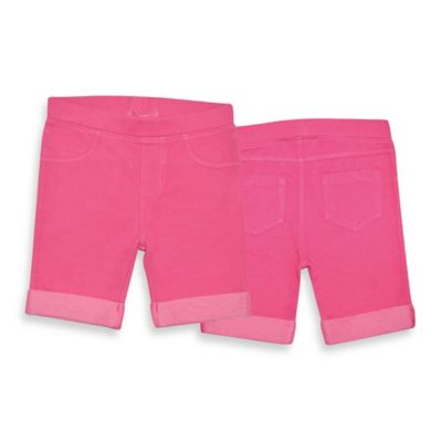 Kidtopia Size 18M Bermuda Roll-Up Short in Beetroot