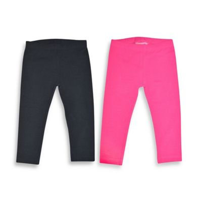 Kidtopia Size 9M 2-Pack Solid Legging in Beetroot/Black