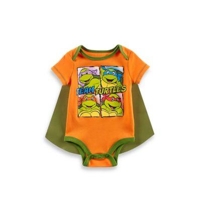 Boys' Clothing (Newborn - 4T) > Nickelodeon™ Size 0-3M Teenage Mutant Ninja Turtles Cape and Bodysuit Set in Orange