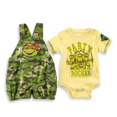 Boys' Sets > Nickelodeon™ Size 18M Teenage Mutant Ninja Turtles 2-Piece Shortall and Bodysuit Set in Camouflage