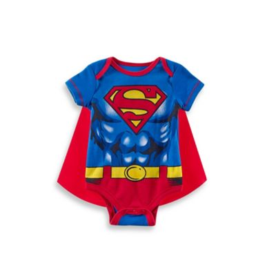 DC Comics™Superman Size 0-3M Cape and Bodysuit Set in Blue/Red