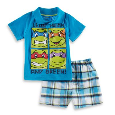 Boys' Sets > Nickelodeon™ Teenage Mutant Ninja Turtles 2-Piece Polo and Short Set in Blue/Green