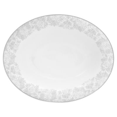 Vera Wang Wedgwood® Vera Chantilly Lace Oval Vegetable Bowl in Grey