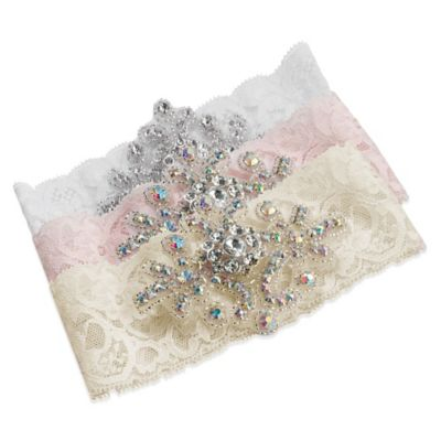 Lillian Rose™ Jeweled Garter in White