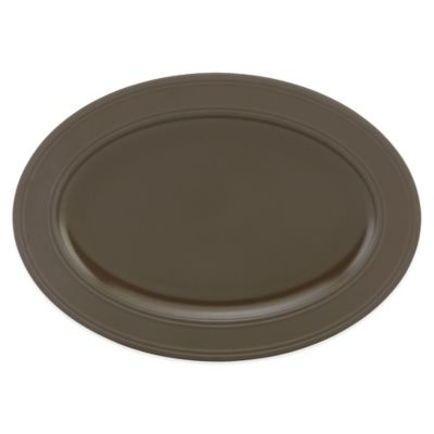 kate spade new york 14-Inch Oval Platter in Bittersweet