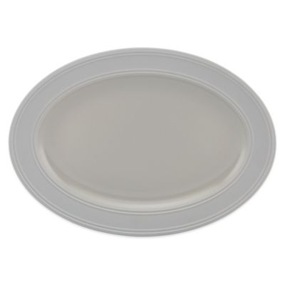 kate spade new york 14-Inch Oval Platter in Oyster