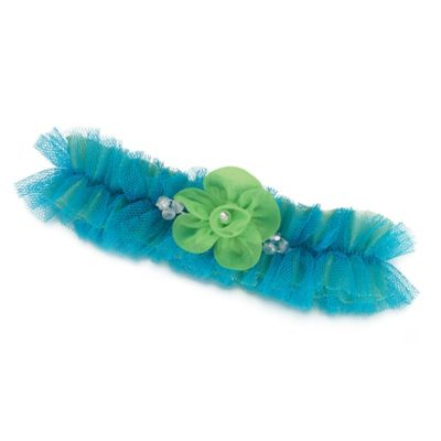 Lillian Rose™ Tulle Garter in Blue/Green