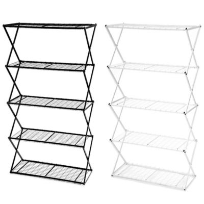 Exy 4 Tier Lift and Lock Storage Shelf Tower in White