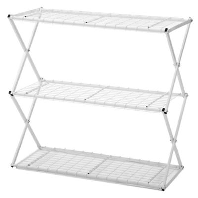Exy 3 Tier Lift and Lock Storage Shelf Tower in White