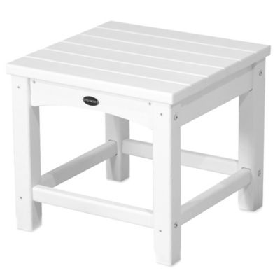 POLYWOOD® Club Side Table in White