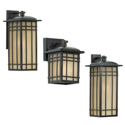Quoizel Hillcrest Outdoor Small Wall Lantern in Imperial Bronze with CFL Bulb