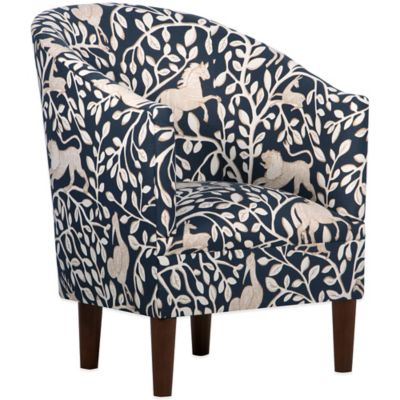 Skyline Furniture Lindsey Tub Chair in Pantheon Admiral