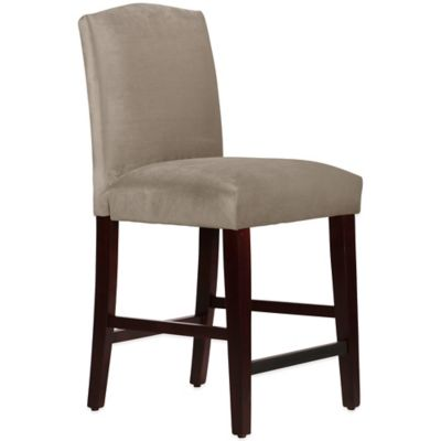 Skyline Furniture Diana Arched Counter Stool in Mystere Mondo
