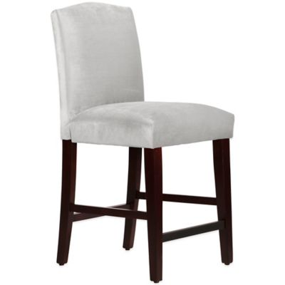 Skyline Furniture Diana Arched Counter Stool in Mystere Dove