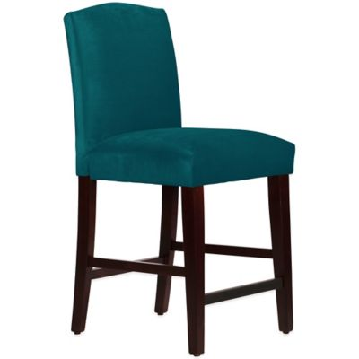 Skyline Furniture Diana Arched Counter Stool in Mystere Peacock