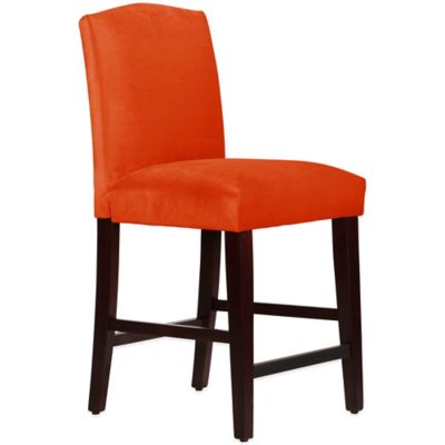 Skyline Furniture Diana Arched Counter Stool in Mystere Mango