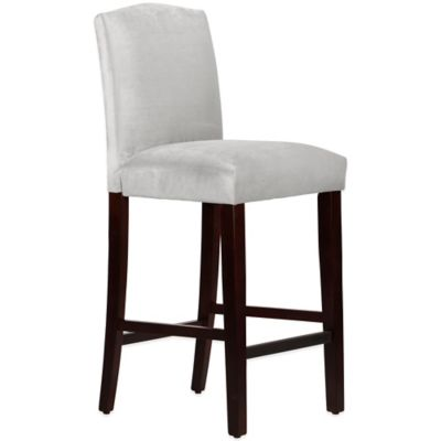 Skyline Furniture Diana Arched Barstool in Mystere Dove