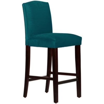 Skyline Furniture Diana Arched Barstool in Mystere Peacock