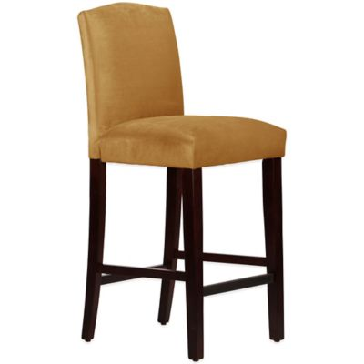 Skyline Furniture Diana Arched Barstool in Mystere Moccasin
