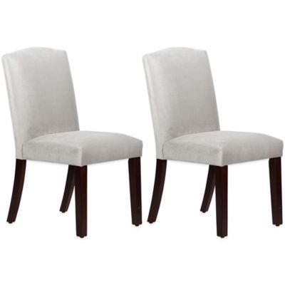 Skyline Furniture Diana Arched Dining Chairs in Mystere Dove (Set of 2)