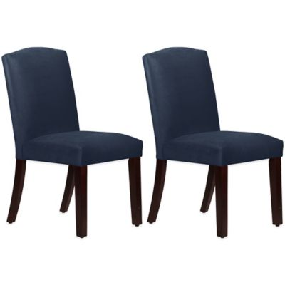 Skyline Furniture Diana Arched Dining Chairs in Mystere Eclipse (Set of 2)