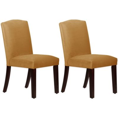 Skyline Furniture Diana Arched Dining Chairs in Mystere Moccasin (Set of 2)