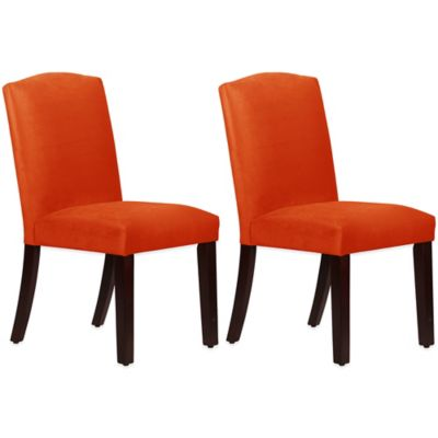 Skyline Furniture Diana Arched Dining Chairs in Mystere Mango (Set of 2)