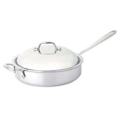 All-Clad Stainless Steel 4-Quart Saute Pan with Domed Lid