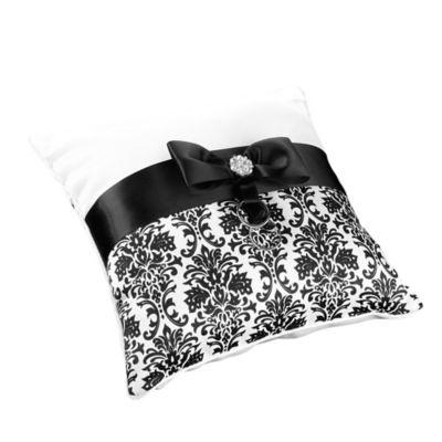 Lililan Rose™ Damask Ring Pillow in Black