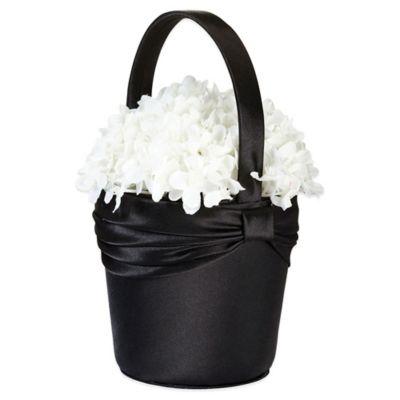 Lillian Rose™ Satin Flower Basket in Black