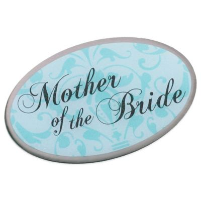 Lillian Rose™ Mother of the Bride Oval Pin in Aqua