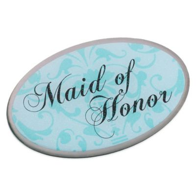 Lillian Rose™ Maid of Honor Oval Pin in Aqua