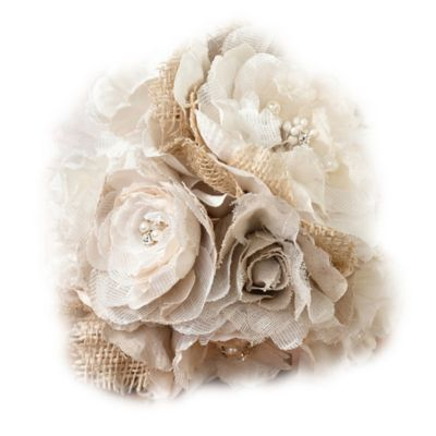 Lillian Rose™ Burlap and Flower Bouquet