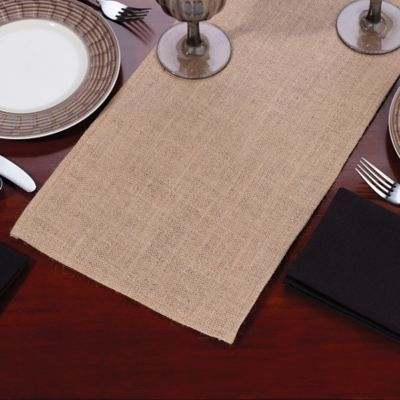 84-Inch Burlap Table Runner