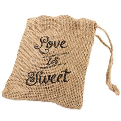 "Lillian Rose™ ""Love is Sweet"" Burlap Favor Bags (Set of 4)"