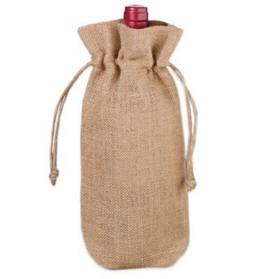Lillian Rose Burlap Wine Bag