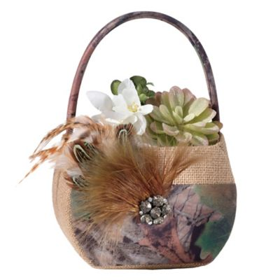 Lillian Rose™ Camo Flower Basket