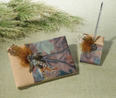 Lillian Rose™ Camo Book & Pen Set