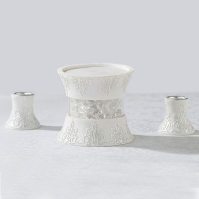 Lillian Rose™ 3-Piece Candle Holder Set in White