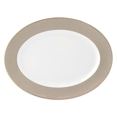 Waterford® Lismore Diamond Cinnabar Oval Platter