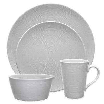 Noritake® Grey on Grey Swirl 4-Piece Round Place Setting