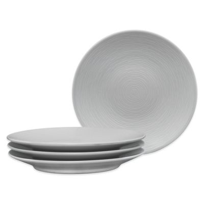 Swirl Grey On Grey Appetizer Plates