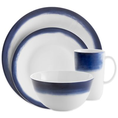 Vera Wang Wedgwood® Simplicity Ombre 4-Piece Place Setting in Indigo