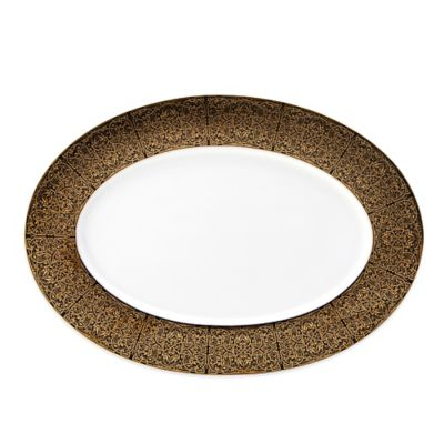 Black Gold Oval Platter